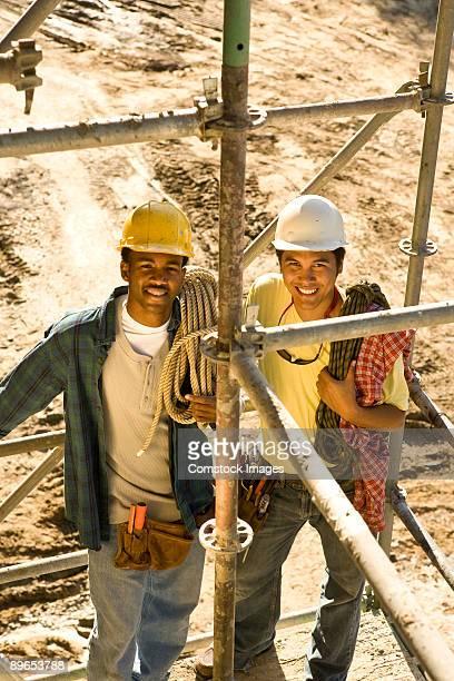 contractors on building site