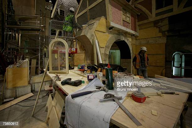 Contractors work to complete Dickens World on April 10 2007 in Chatham Kent The Dickensian theme park expected to cost GBP62 million and is due to...