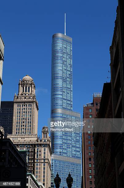 Contrasting the old with the new The Jewelers Building and Trump International Hotel and Tower on April 26 2014 in Chicago Illinois