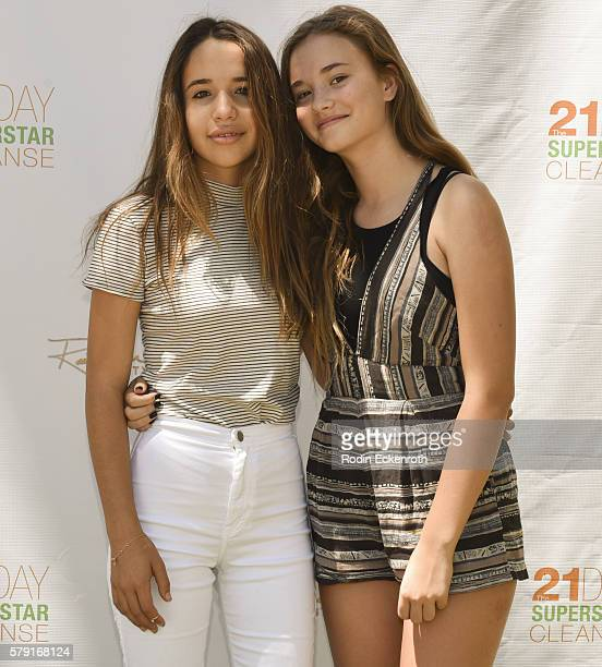 Contributer Jade Mars and actress Johnny Sequoyah attend Rainbeau Mars New 21 Day Superstar Cleanse Ebook release on July 22 2016 in Beverly Hills...