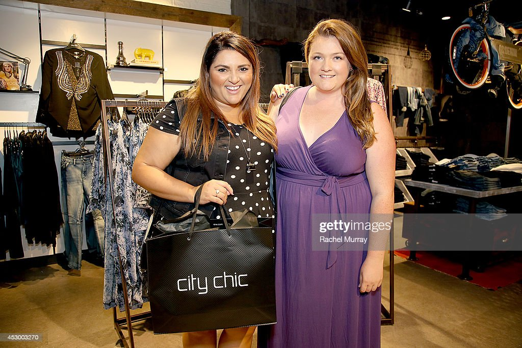 Contributing Editor Marie Claire/stylist Marcy Guevar (L) and Reporter WGSN Rachel Richardson attends the City Chic Exclusive Preview: First U.S Store Culver City at Westfield Culver City Shopping Mall on July 31, 2014 in Culver City, California.