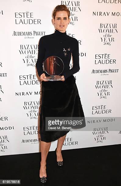 Contribution to British Fashion award winner Stella Tennant attends the Harper's Bazaar Women of the Year Awards 2016 at Claridge's Hotel on October...