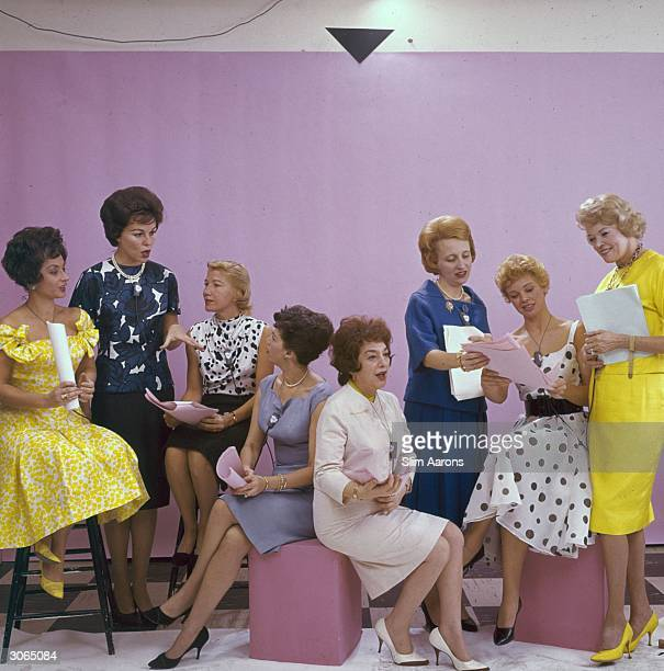 Contributors to the ABC's coast to coast programme 'Flair' From l to r Mimi Benzell Bess Myerson Phyllis Battelle Charlotte Lord Betty Walker...