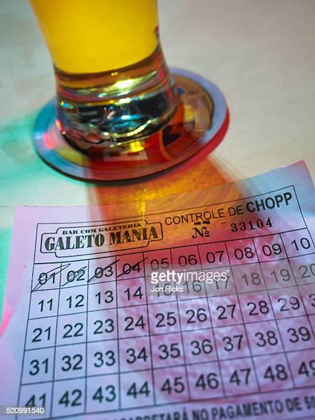A control card in a Rio de Janeiro bar.
