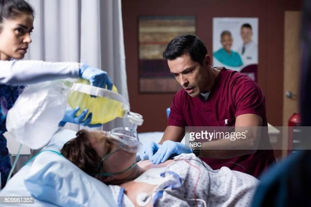 SHIFT 'Control' Episode 404 Pictured Alma Sisneros as Nurse Jocelyn Mark Consuelos as Cain Diaz