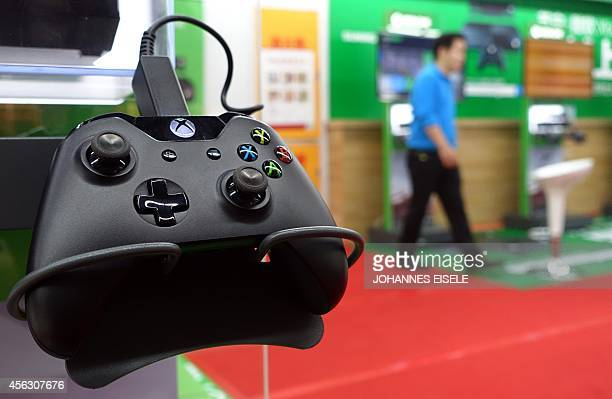 A control of a Microsoft's Xbox One game console is pictured in a shop in Shanghai on September 29 2014 The Xbox One launched in China the first...