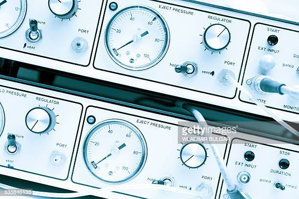 Control panel with dials