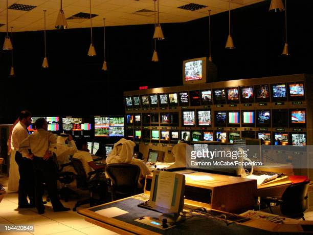 A control room at the headquarters of the Al Jazeera TV network in Doha Qatar 19th October 2005