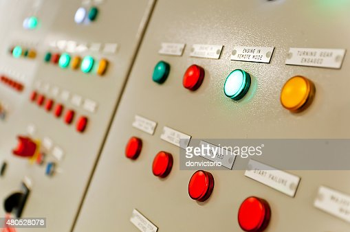 Control Room of an extra large ship : Stock Photo