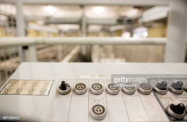 Control system of a fully automatic furniture board sorting system at the production site of SieMatic Moebelwerke on July 10 in Loehne Germany...