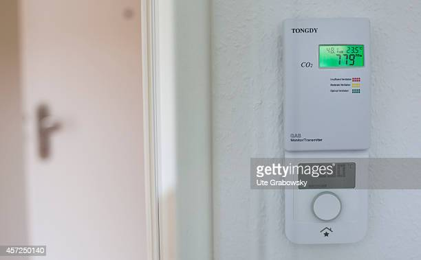 Control system of a plus energy house on August 21 in Bottrop Germany An Energyplushouse produces more energy from renewable energy sources over the...