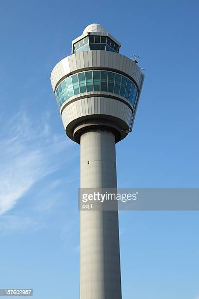Control tower at International Airport Schiphol in Amsterdam, Holland