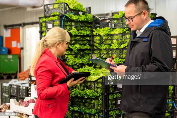 Controllers in a vegetable warehouse