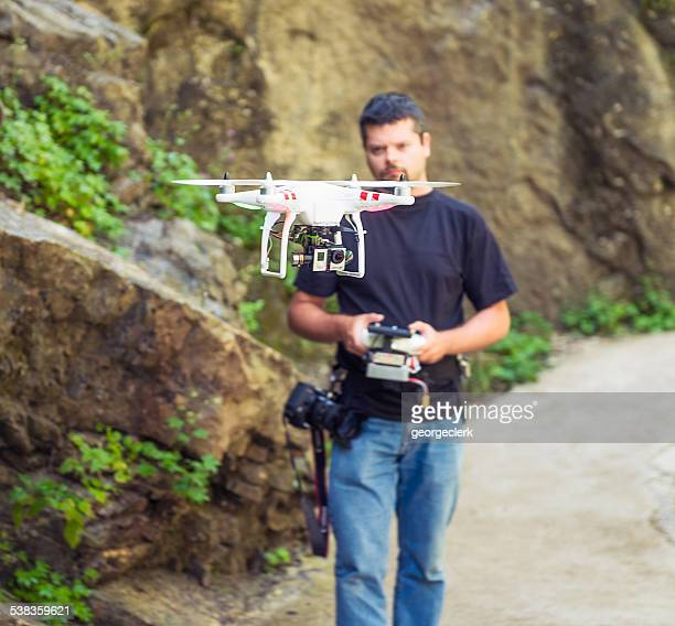 Controlling a DJI Phantom quadcopter drone