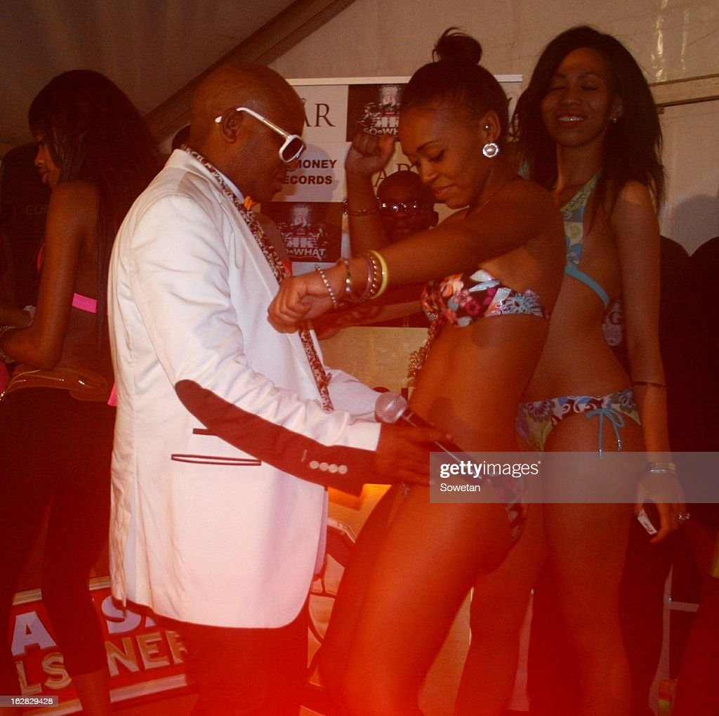 Controversial businessman Kenny Kunene celebrates his 42nd birthday at the Bahamas Night Club on October 23, 2012 in Springs, Johannesburg, South Africa.
