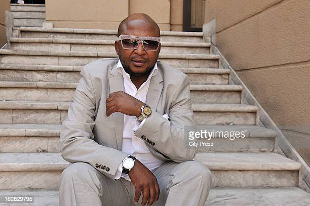 Controversial businessman Kenny Kunene talks to City Press newspaper on October 17 2012 in Johannesburg South Africa He spoke about his upcoming...