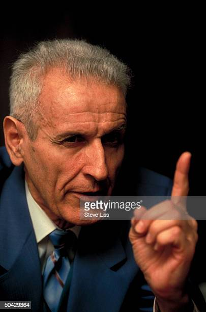 Controversial euthanasia advocate Dr Jack Kevorkian during TIME interview in offices of Kevorkian's lawyer Geoffrey Fieger