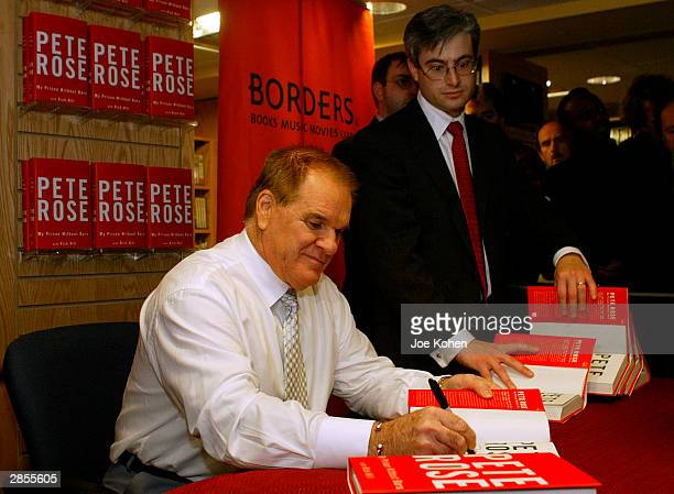 Controversial former baseball great Pete Rose attends a signing for his autobiography 'My Prison Without Bars' January 9 2004 in New York City In the...