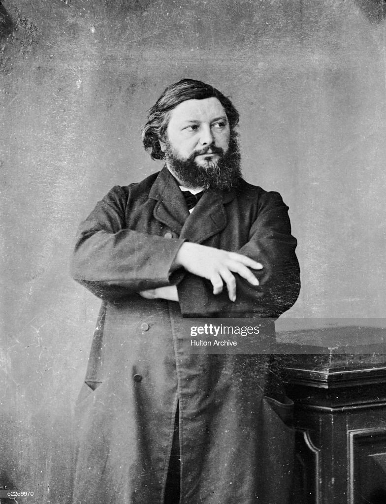 Controversial French painter Gustave Courbet circa 1860