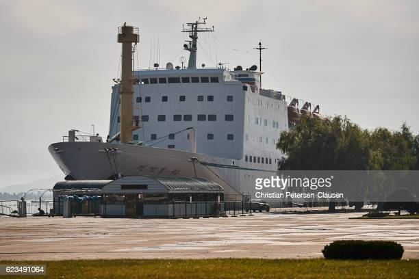 Controversial North Korea - Japan ferry docked in Wonsan