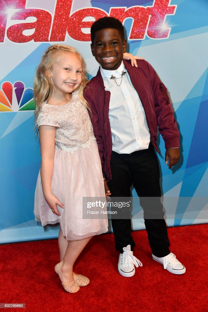 Contstants Artyon and Paige attend the Premiere Of NBC's 'America's Got Talent' Season 12 at Dolby Theatre on August 15, 2017 in Hollywood, California.