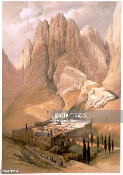 Convent of St Catherine with Mount Horeb February 19th 1839' The Greek Orthodox St Catherine's Monastery stands at the foot of the mountain where...