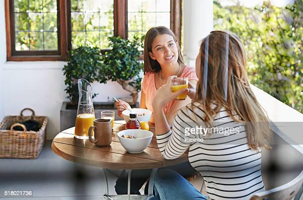 Gespräche über Frühstück