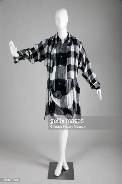 Convertible dress ca 1992 Checked cotton/wool/nylon blend by Comme des Garcons