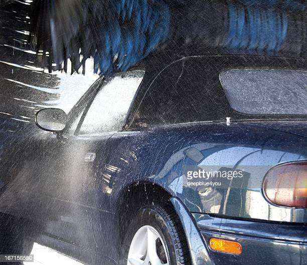 Cabrio during car wash