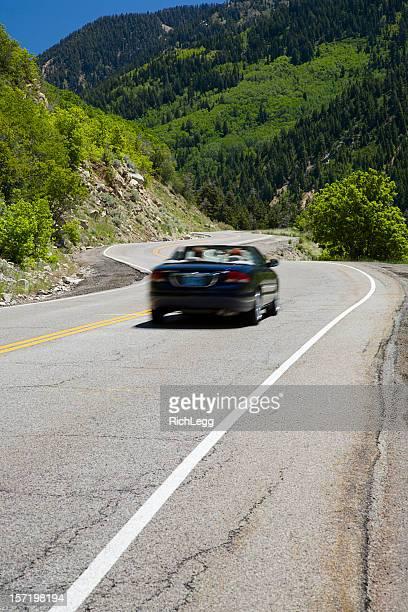 Cabrio auf der Mountain Road