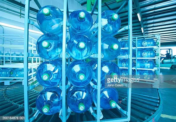 Conveyor belt at water bottling plant