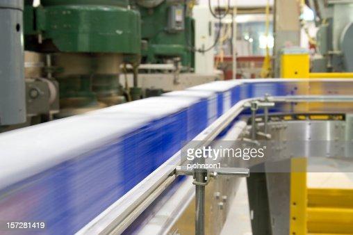Conveyor belt in a factory in operation