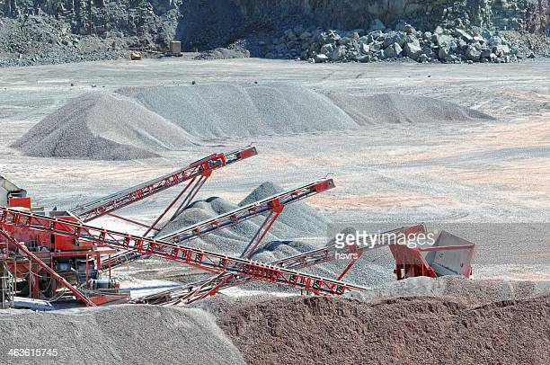 Conveyor Belt in a quarry open mine pit