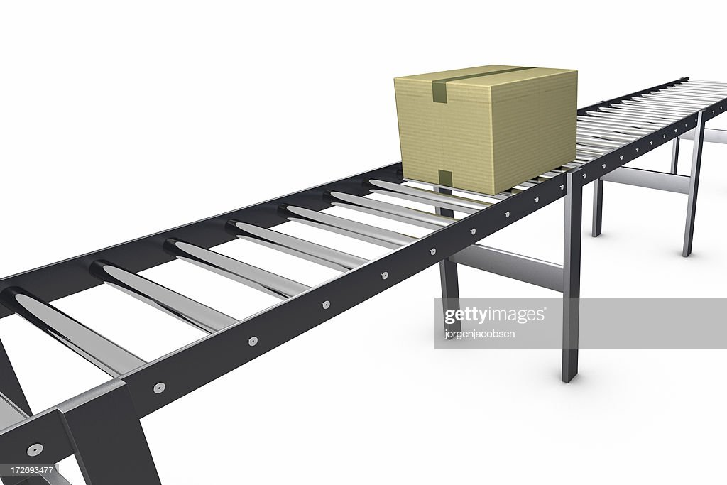 Conveyor Belt with a box