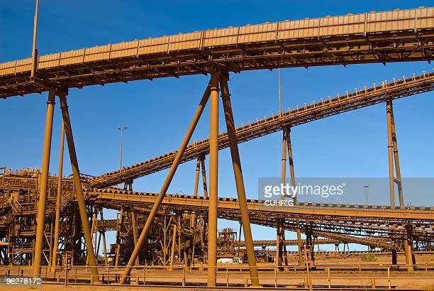 Conveyor  belts on Iron Ore Mine Site