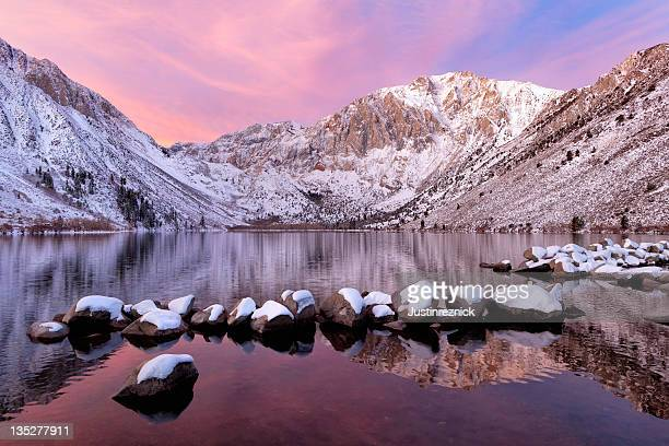 Convict Lake with Mountains and Snow
