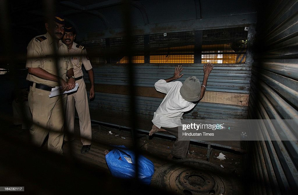 TADA convict Mohammed Iqbal Shaikh who was given death sentence on Friday being moved out of the Arthur Road jail in 1993 Mumbai serial blast case on July 20, 2007 in Mumbai, India. On March 21, 2013 after 20-year-long judicial proceedings in 1993 Mumbai Serial Bomb Blasts Case, Supreme Court upheld the death sentence of Yakub Abdul Razak Memon, a key conspirator with Dawood Ibrahim in the 1993 Mumbai serial blasts, and ordered that Bollywood actor Sanjay Dutt return to jail to serve three-and-a-half years sentence for possessing illegal arms. 257 people were killed in serial blasts in Mumbai on March 12, 1993.