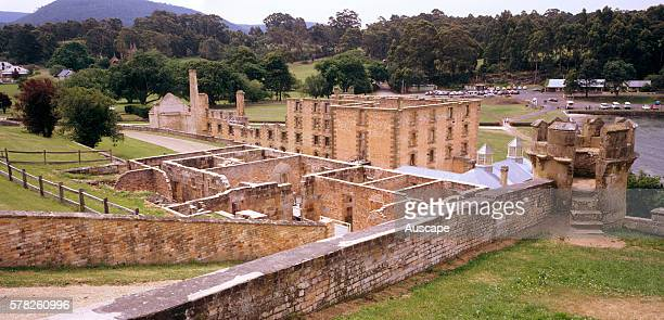 Convictbuilt colonial era buildings in the penal settlement of Port Arthur opened in 1830 and closed in 1877 Port Arthur Historic Site Tasmania...