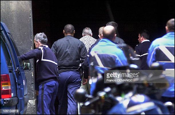 Convicted Serial Killer Francis Heaulme Arrives At Lyon Courthouse Under Heavy Protection To Testify In Patrick Dils' Appeal Trial On April 17Th 2002...