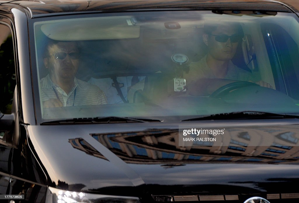 A convoy believed to be carrying former police chief Wang Lijun and disgraced politician Bo Xilai leaves after the third day of Bo's trial at the Intermediate People's Court in Jinan, Shandong Province on August 24, 2013. Once one of China's highest-flying politicians, Bo Xilai found himself in the criminal dock on trial for bribery and abuse of power in the country's highest-profile prosecution in decades. AFP PHOTO/Mark RALSTON