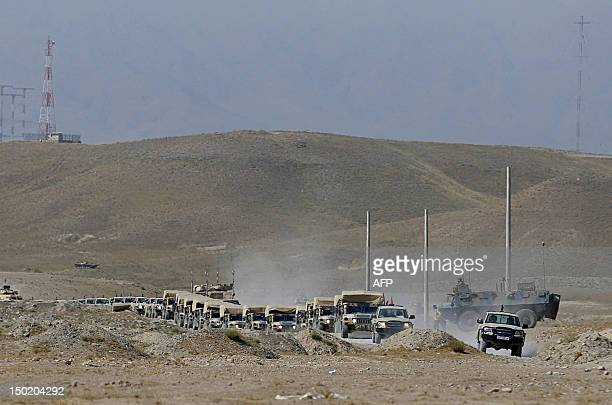 A convoy of trainings and tactical manoeuvres operated by French Army's mentors members of the 'Epidote' unit for soldiers of the Afghan National...