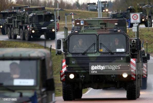 A convoy transporting 'Patriot' missiles sets off in Sanitz northern Germany on January 6 2013 Germany The Netherlands and the United States agreed...
