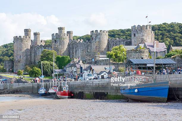 Conwy Castle, UNESCO World Heritage Site, and harbour, Conwy, Wales, United Kingdom, Europe