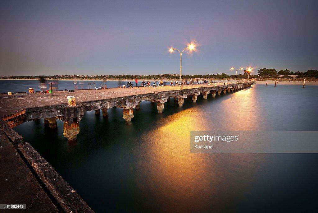 Coogee Beach Jetty at dusk Fremantle Western Australia