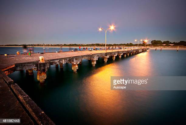Coogee Beach Jetty at dusk Fremantle Western Australia