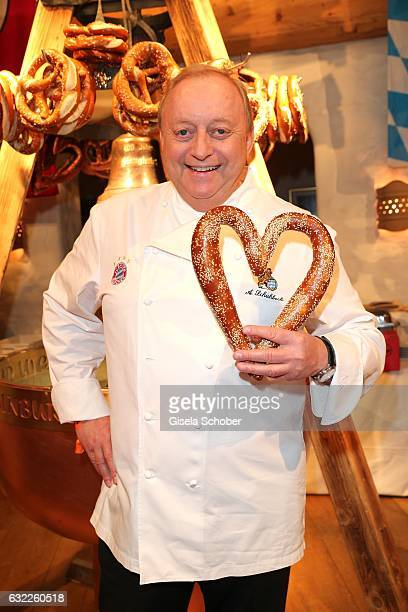 Cook Alfons Schuhbeck during the Weisswurstparty at Hotel Stanglwirt on January 20 2017 in Going near Kitzbuehel Austria