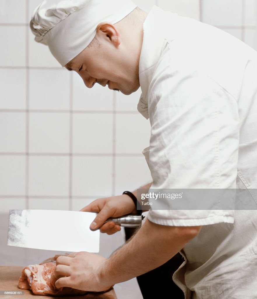 Cook Chopping Meat