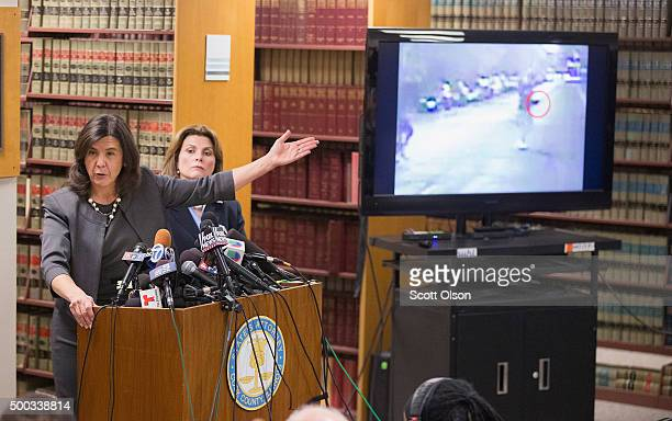 Cook County State's Attorney Anita Alvarez discusses the shooting of Ronald Johnson by Chicago police officer George Hernandez on December 7 2015 in...