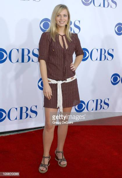 AJ Cook during CBS Summer 2006 TCA Press Tour Party Arrivals at Rose Bowl in Pasadena California United States