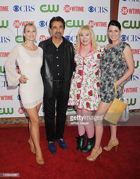 Cook Joe Mantegna Kirsten Nangsness and Paget Brewster arrive at the TCA Party for CBS The CW and Showtime held at The Pagoda on August 3 2011 in...